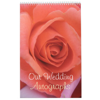 Peachy Wedding Rose Calendar