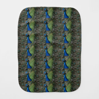Peacock Baby Burp Cloth
