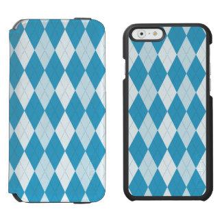 Peacock Blue Argyle Small Diamond Shape Incipio Watson™ iPhone 6 Wallet Case