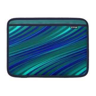 Peacock blue stripes MacBook air sleeve