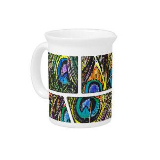 Peacock Cartoon - Beverage Pitchers