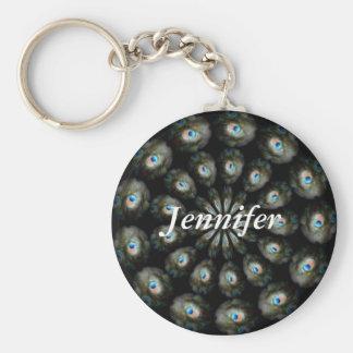 Peacock Eye, Jennifer,Keychain Key Ring
