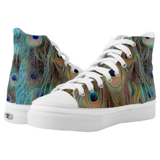 Peacock Feather High Top Shoes
