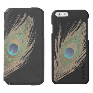 Peacock Feather on Black Incipio Watson™ iPhone 6 Wallet Case