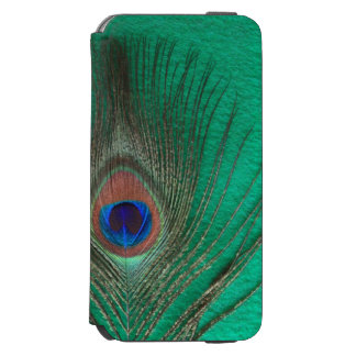 Peacock Feather on Green Inner Blank Incipio Watson™ iPhone 6 Wallet Case