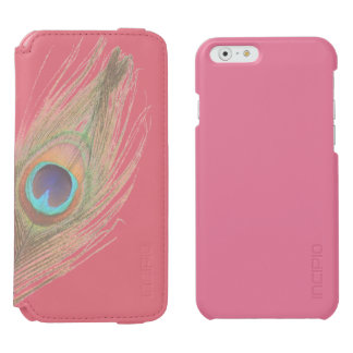 Peacock Feather on Pink Add Photo Incipio Watson™ iPhone 6 Wallet Case