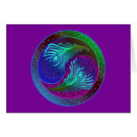Peacock Feather Yin Yang 5 Greeting Card