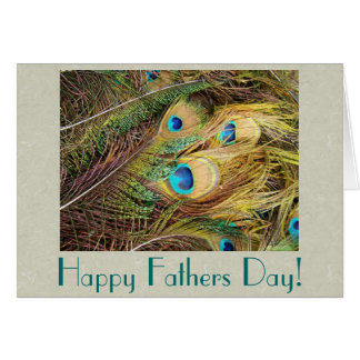 Peacock Feathers Fathers Day Card