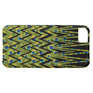Peacock feathers in zigzags iPhone 5C case