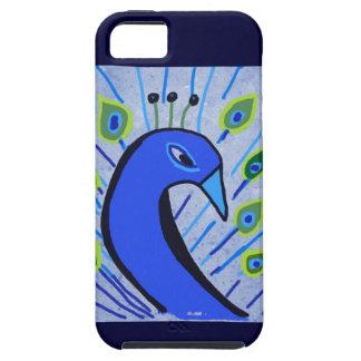 Peacock Finger Paint Doodle iPhone 5 Case