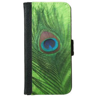 Peacock Lime Green iPhone 6 Wallet Case