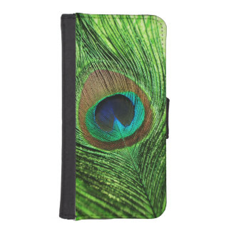Peacock Lime Green iPhone SE/5/5s Wallet Case