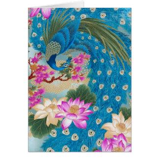 Peacock Lotus Card