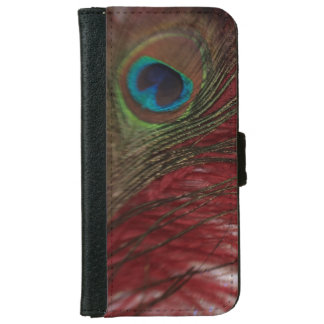 Peacock Red and White iPhone 6 Wallet Case
