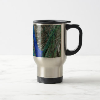 Peafowl Art Travel Mug