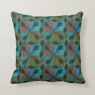 Peafowl feathers pattern pillows
