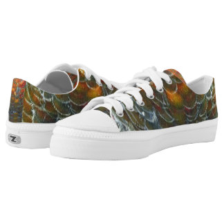 Peafowl Feathers True Colors Printed Shoes