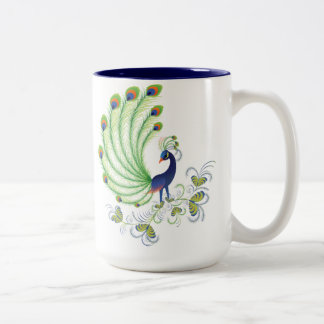 Peafowl Two-Tone Coffee Mug
