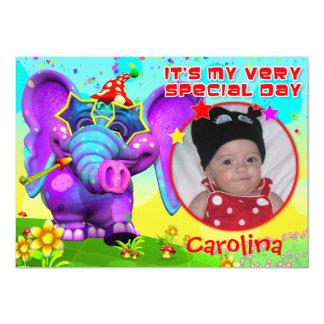 "Peanut Party Birthday Invite- ""The GiggleBellies"" 11 Cm X 16 Cm Invitation Card"