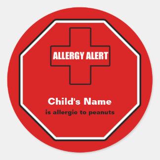 Peanuts Allergy Medical Alert Custom Std Sticker