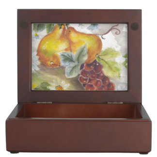 Pear & Grapes Keepsake Box