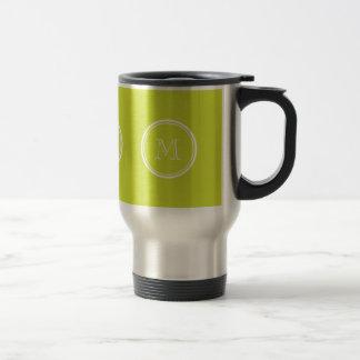 Pear High End Colored Monogram Initial Mug