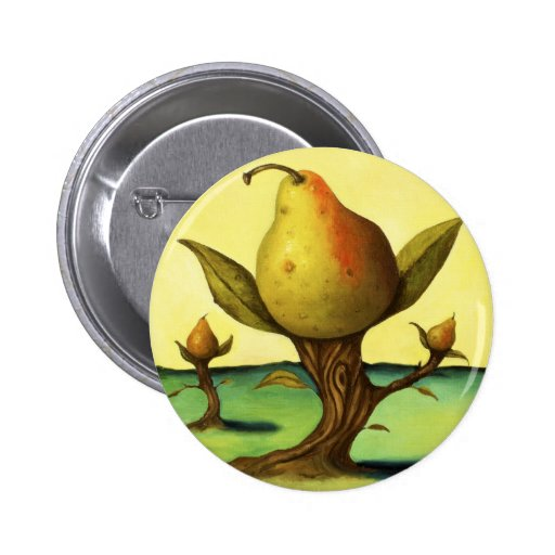 Pear Tree Pinback Buttons