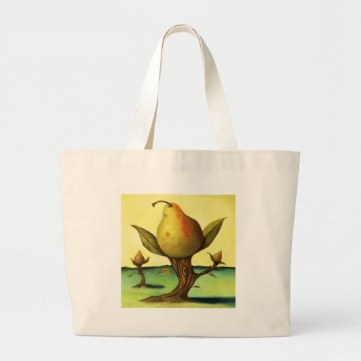 Pear Tree Tote Bags