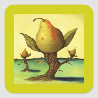 Pear Tree Square Sticker