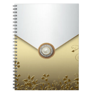 Pearl Gold Spiral Business Notebook