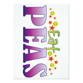 Peas Eat 14 Cm X 19 Cm Invitation Card