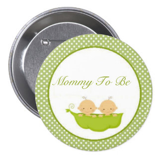 Peas In A Pod Twins Baby Shower Mommy To Be Button
