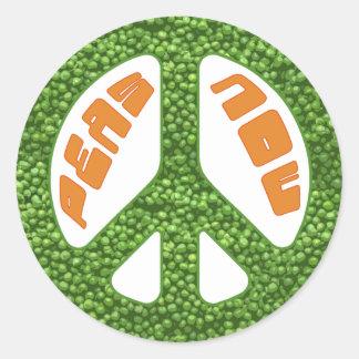 Peas Now Round Sticker