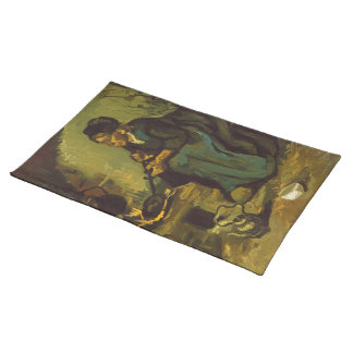 Peasant Woman Cooking by a Fireplace by Van Gogh Placemat
