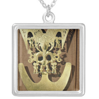 Pectoral, Quimbaya Silver Plated Necklace