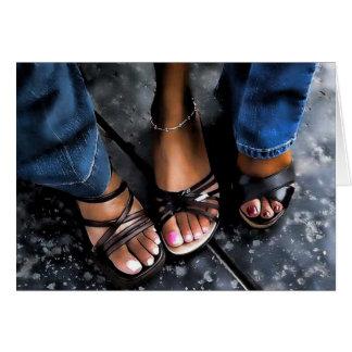Pedicured Feet Card