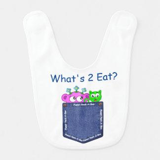 Peek-A-Boo- What's 2 Eat? Bib