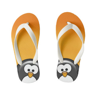 Peekaboo Penguin Orange Kid's Jandals