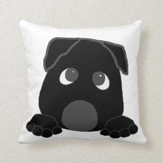 peeking cane corso black cushion