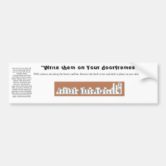 Peel and Stick Deuteronomy 6 Door Frame Sticker