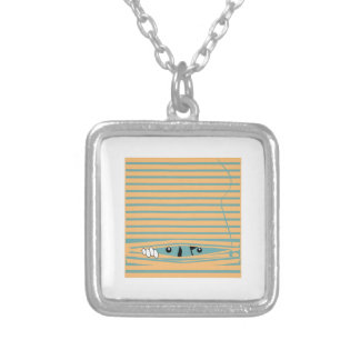 Peeping Tom Square Pendant Necklace