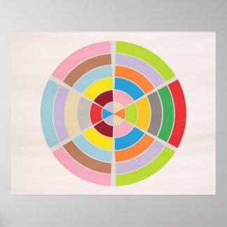 Pefect Circles 1 - Modern Graphic Art Poster