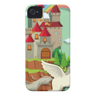 Pegasus flying over the palace iPhone 4 Case-Mate cases