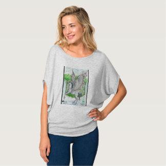 Pegasus in front of waterfall T-Shirt