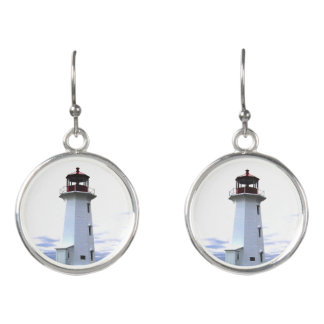 Peggy's Cove  Lighthouse Earrings Nova Scotia