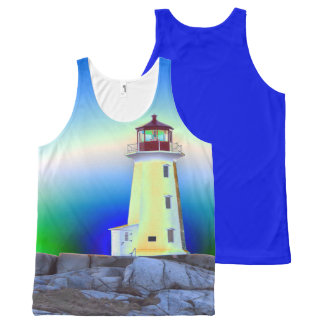 Peggy's Cove  Lighthouse Route Nova Scotia All-Over Print Singlet