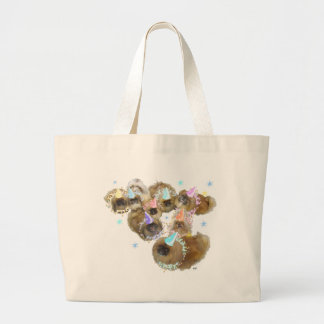 Pekingese Celebration Group Large Tote Bag