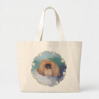 Pekingese Ice Princess Large Tote Bag