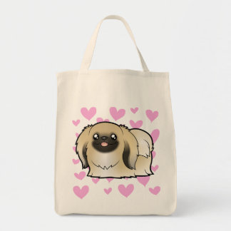 Pekingese Love (show cut) Tote Bag
