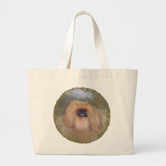 Pekingese Royal Large Tote Bag